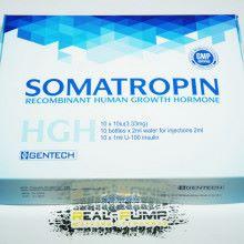 Somatropin (Gentech)